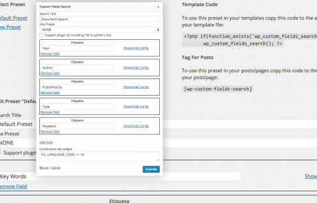 Búsquedas de documentos en varios idiomas con WPML y Custom Fields Search en WordPress